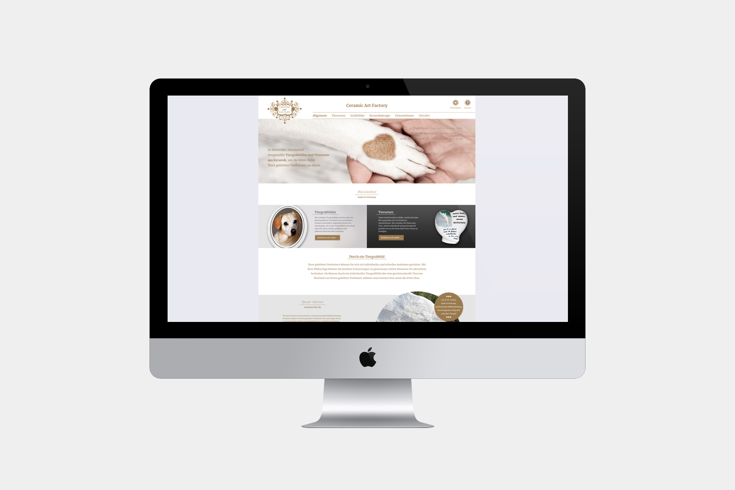 Ceramic Art Factory // Webdesign, SEO und E-Commerce
